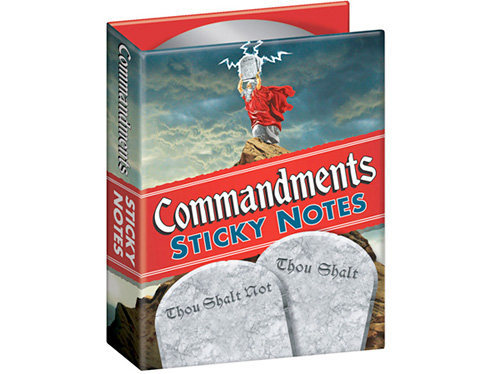 Commandments Sticky Notes (Image courtesy Perpetual Kid)
