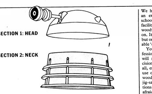 Build Your Own Dalek From The Official Bbc Blueprints Ohgizmo