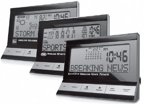 Excalibur Wireless News Ticker (Image courtesy wireless goodness)