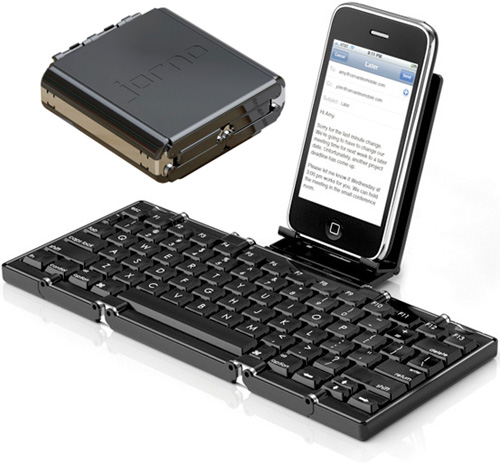 Jorno Folding Bluetooth Keyboard (Images courtesy Cervantes Mobile LLC)