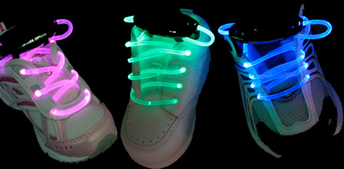 LED Light Up Shoelaces (Image courtesy Lite Bright Raves)