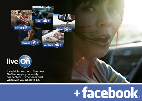 OnStar Getting Facebook Updates (Images courtesy OnStar & Facebook)