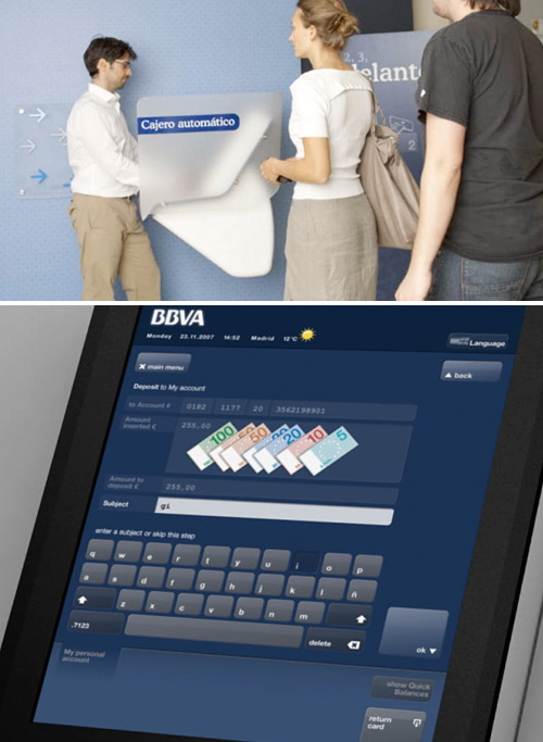 BBVA Redesigned ATMs (Images courtesy IDEO)