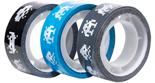Space Invaders Packing Tape (Image courtesy Officeworks)