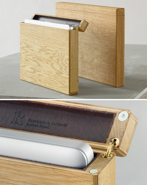 Leather Lined Wooden Laptop Case (Images courtesy Rainer Spehl)