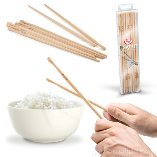 Beat It! Chopstick Drumsticks (Image courtesy Perpetual Kid)