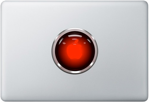 HAL 9000 MacBook Decal (Image courtesy Etsy)