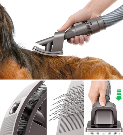 Dyson's Dog Grooming Brush (Images courtesy Dyson Japan)