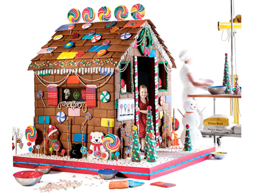 Edible Gingerbread Playhouse by Dylan's Candy Bar (Image courtesy Neiman Marcus)