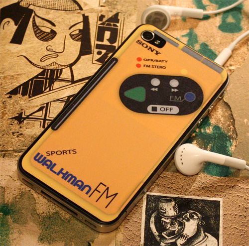Sony Walkman iPhone 4 Sticker Cassette (Image courtesy Etsy)