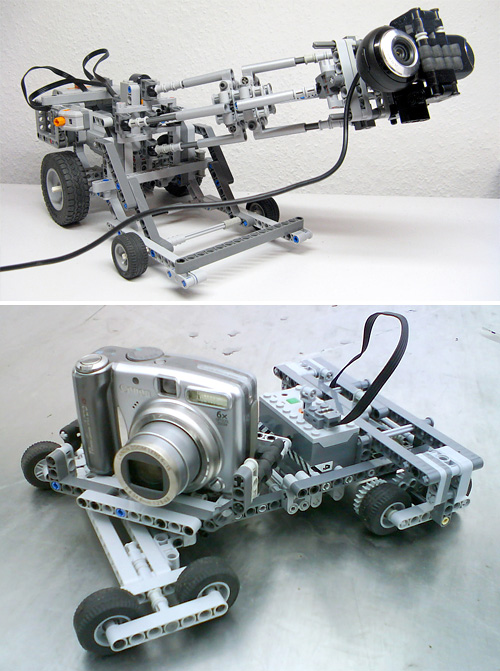 LEGO Technic Camera Dollies (Images courtesy Peer Kreuger)