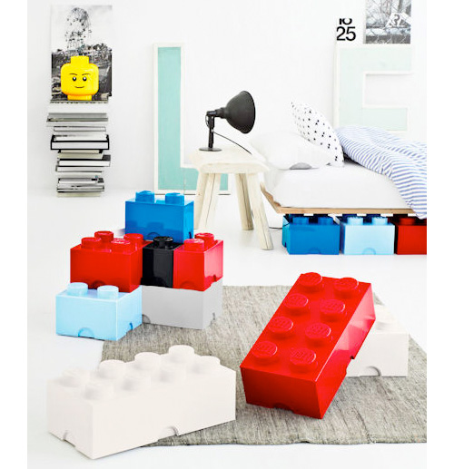 Giant LEGO Brick Storage Containers (Image courtesy A Place For Everything)