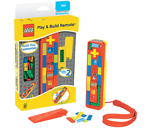 "LEGO Play and Build Remote for Nintendo Wii (Image courtesy Toys ""R"" Us)"