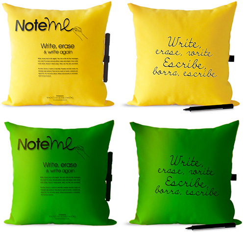 Note Me Pillows (Images courtesy VEINTICUATRODIENTES)