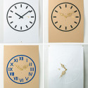 'Time Paper' Clock Posters Make It Easy To Redecorate