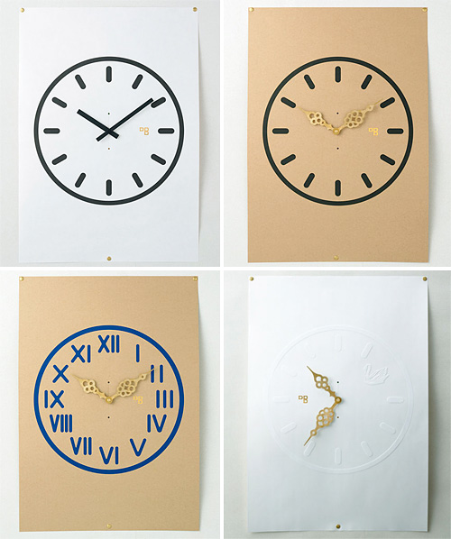 Time Paper Clock Posters (Images courtesy Boo-Hoo-Woo.com)