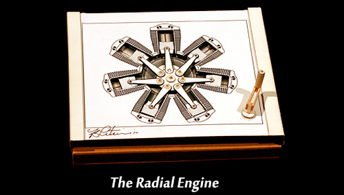 MechaniCards Radial Engine (Image courtesy Brad Litwin)