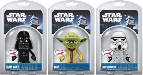 Funko Star Wars Retractable Earbuds (Images courtesy Treasure Seekers Webkinz, Toys & Gifts)