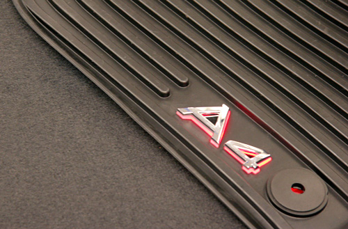 Audi Illuminated Floormats (Image courtesy Audi)