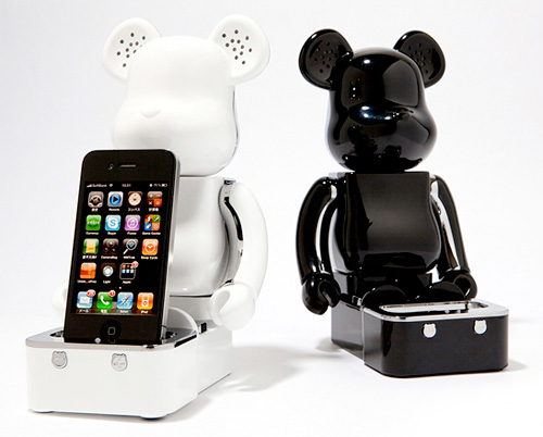 Be@rbrick iPhone/iPod Speaker System (Image courtesy Medicom)