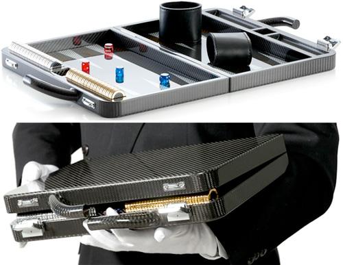 Carbo Fiber Backgammon Game (Images courtesy Carbofan)