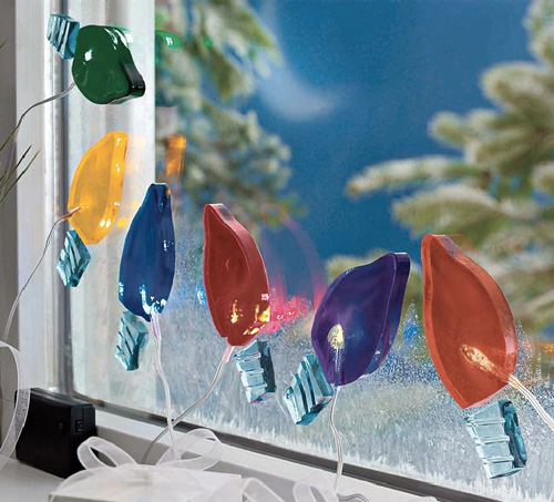 Gel Gem Christmas Lights (Image courtesy Solutions)