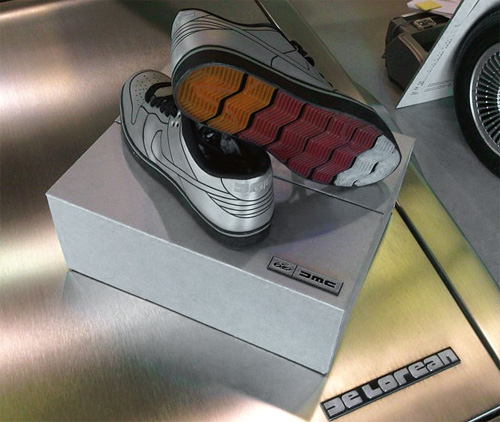 Limited Edition DeLorean Nike Dunk Shoes (Image courtesy the DeLorean Motor Company)