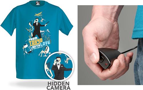 Electronic Spy Camera Shirt (Images courtesy ThinkGeek)