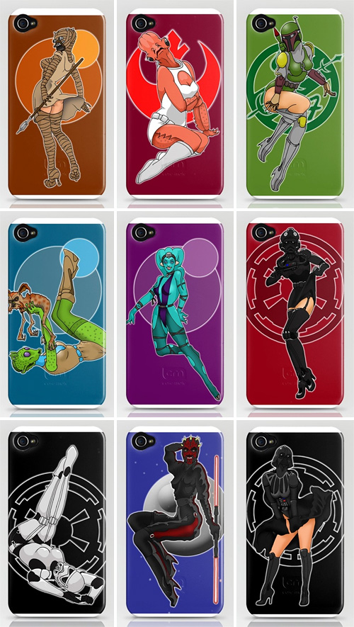 Star Wars Pinups iPhone Cases (Images courtesy Society6)