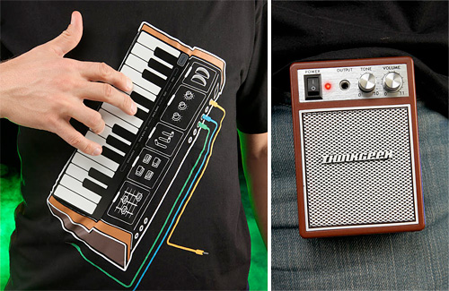 Electronic Music Synth Shirt (Images courtesy ThinkGeek)