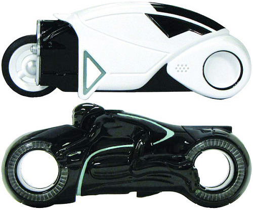 "TRON Light Cycle USB Flash Drives (Images courtesy Toys ""R"" Us)"