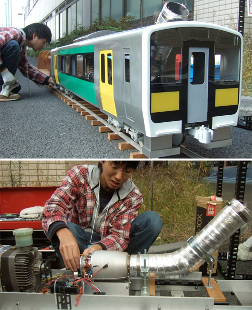 Gas Turbine Model Train (Images courtesy Gizmag)
