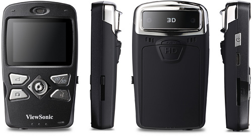 ViewSonic 3DV5 Pocket 3D Camcorder (Images courtesy ViewSonic)