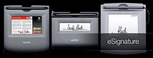 Wacom eSignature Tablets (Image courtesy Wacom)