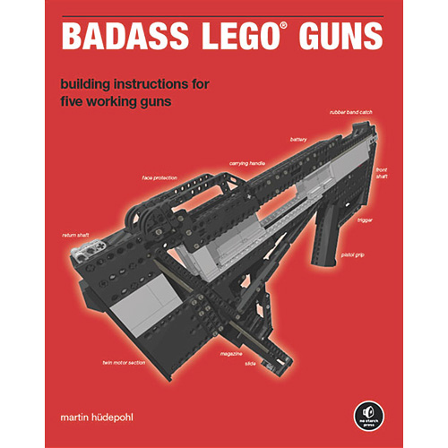 Martin Hudepohl's 'Badass LEGO Guns' Book (Image courtesy O'Reilly)