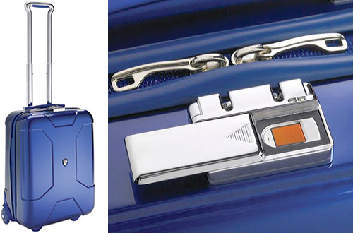 Heys Crown Edition Carry-On Luggage With Biometric Locks (Images courtesy Heys)