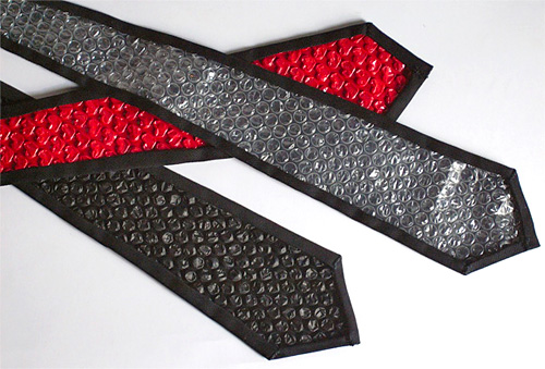 Bubble Wrap Backed Ties (Image courtesy MicroWorks Web)
