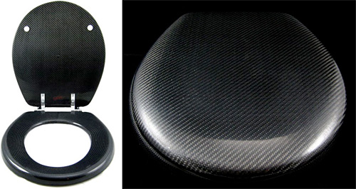 Carbon Fiber Toilet Seat (Images courtesy Carbon Fiber Gear)
