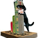 Awesome Scratching Post Lets Your Cat Destroy Tall Buildings