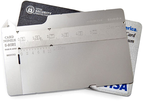 Credit Card Micrometer Caliper (Image courtesy MoMA Store)