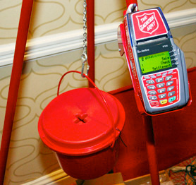 Salvation Army Credit Card Kettles (Image courtesy Chief Marketer)