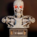 Impressively Detailed LEGO T-800 Terminator Bust