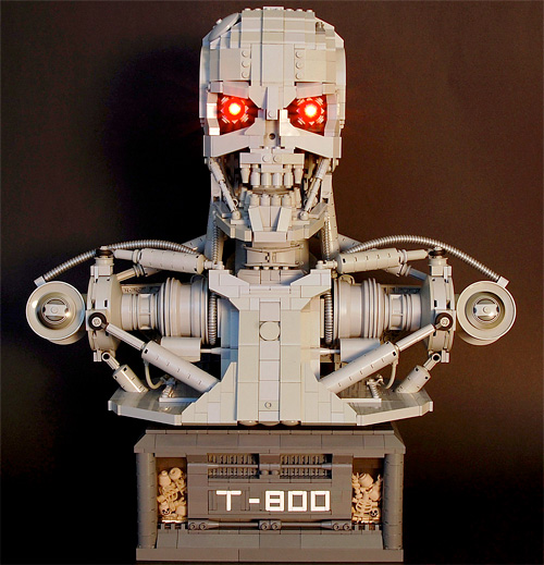 LEGO T-800 Terminator Bust (Image courtesy Flickr)