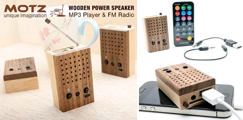 Motz Tiny Wooden Power Speaker (Images courtesy Pyramid Distribution)