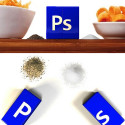 The Photoshop Icon Makes For Clever Salt & Pepper Shakers