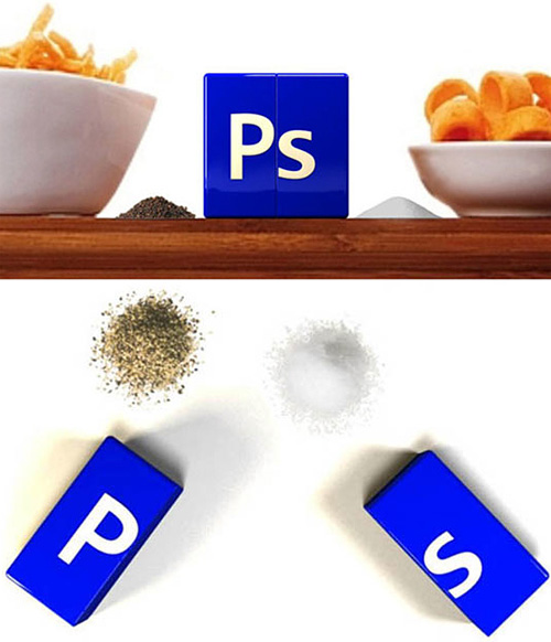 Photoshop Icon Salt & Pepper Shakers (Images courtesy Frack Design)