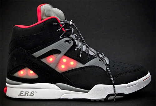Custom Illuminated Reebok Omnizone Pumps (Image courtesy Sneaker Freaker)