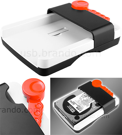 Slipper USB 3.0 SATA HDD Dock (Images courtesy USB.Brando.com)