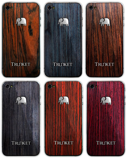 Trunket Wooden iPhone 4 Skins (Images courtesy Trunket)
