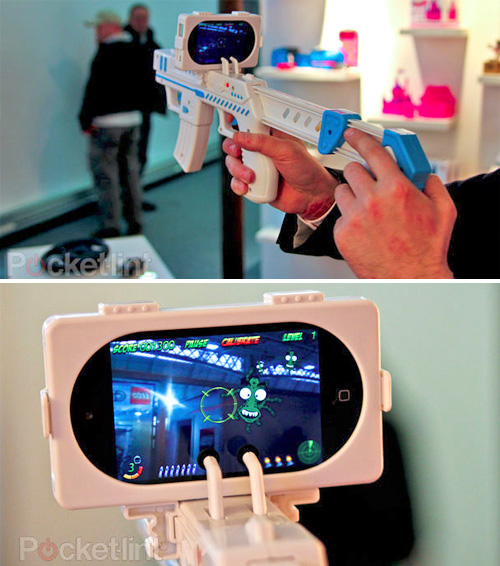 App Gun iPhone Accessory (Images courtesy Pocket-lint)